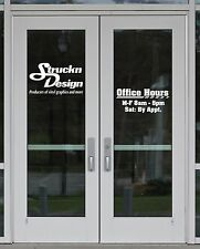 Business Retail Store Sign Office Hours Custom Vinyl Graphic Decal Window Letter
