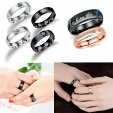Durable Couples Rings Stainless Steel HER King HIS Queen Wedding Surprise Gifts