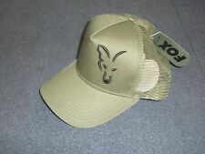 Fox Green / Black Trucker Cap Hat Carp fishing tackle