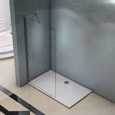 700x1950mm Wet Room Walk In Shower Enclosure Glass Screen Panel Support Bar F084