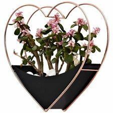 Heart Flowerpot Wall Hanging Succulent Planter Garden Vases Mounted Decor Home