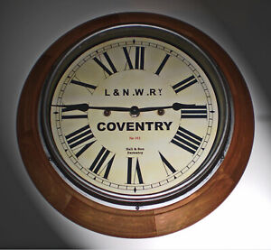 LNWR London & North Western Railway Style Coventry Station / Waiting Room Clock