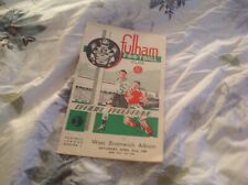 Football programme Fulham v West Bromwich Albion 1949/50