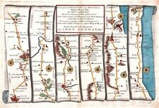 Antique map, The Roads from Shrewsbury and Chester to Holywell plate 098