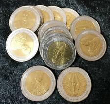 THAILAND BI-METAL 10 BAHT 100th ROYAL THAI ARMY 2009 UNC LOT 5 COIN