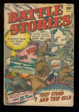 BATTLE STORIES #4 1952-FAWCETT-EXPLOSIONS-VIOLENCE-WAR VG