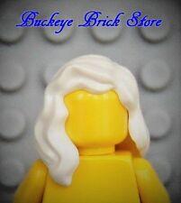 NEW Lego Storm Minifig Long WHITE HAIR Girl/Female Wavy Over Shoulder Head Gear