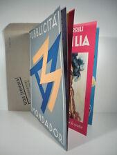 Pubblicita' Mondadori. Marzo 1934, grafica pubblicitaria,