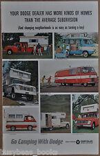 1965 DODGE Pickups & Campers advertisement, Motor Home, A100, Camper Special etc
