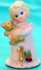 1981 Enesco Growing Up Birthday Girls Figurine First Birthday Celebration