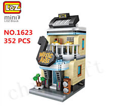LOZ 1623 MINI Blocks DIY Kids Building Toys Adult Puzzle Stree Music Store