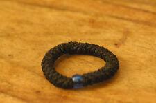Elastic Orthodox Chotki Bracelet Prayer Rope Komboskini BLACK with a Blue Bead