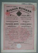 More details for romania steaua romana imprumut de 5% obligatiune 1000 mark 1230 lei