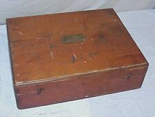 Case for a 1880 Edison A. B.Dick Co. Mimeograph No.1 wooden box only