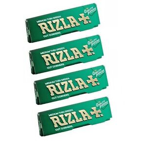 Green Rizla Medium -Thin Cigarette Rolling Papers  ***Fast Free P&P***