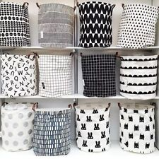 40x50cm Waterproof Canvas Laundry Bag Clothes Storage Large Basket Foldable New