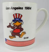 1988 Seoul Olympic Games Mascot Coffee Cup/Mug Sam Los Angeles 1984 ~ Vintage