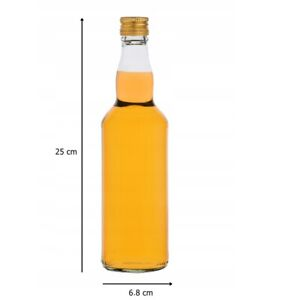 15 GLASS Bottles For Spirit 500ml 50cl Home Brewing Gold Screw Cap FAST P&P