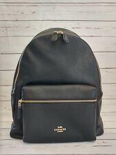 NWT Coach F29004/F38288 Charlie Backpack In Pebble Leather Black NWT $395