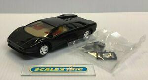 SCALEXTRIC HORNBY 1992-4 C283A Lamborghini Diablo in Black (NR MINT) LIGHTS V1