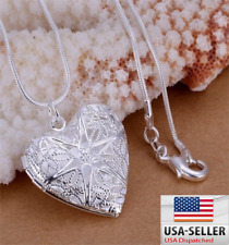 best new Silver love lady jewelry fashion women wedding heart Charms necklace