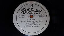 DON PAULL,OWEN FLYNN & HOLLYWOOD HAYMAKERS Is It True/ The Apple 78 Highway 3457