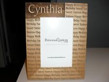 Cynthia personalized Happy Birthday Sweet Sixteen picture frame Wood 4 x 6""