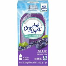 Crystal Light Caffeine Grape Drink Mix 120 On-the-Go Packets 12-Pack of 10