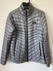 Women's The North Face Thermoball Puffer Jacket Size Medium Silver