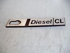 FIAT Ritmo Diesel CL laterale  scritta modello targhetta  PLASTICA