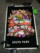 Vintage 1998 Blacklight South Park cast poster