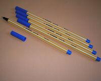 5 Stk. Stabilo Point 88 Fineliner 88/41 blau Filzstift Filzschreiber Fein NEU