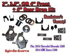 "2014 Chevrolet Chevy Silverado / GMC Sierra 1500  3"" - 4"" / 6"" Lowering Drop kit"