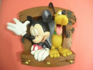 Raro Topolino Pluto Disney Resina Made in Francia Vintage Policromatico anni 80
