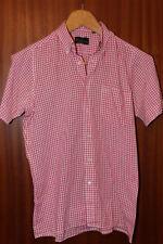 Vintage Ben Sherman gingham shirt, rosa, size S, short sleeve