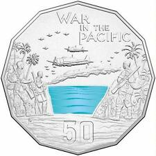 2015 Australia At War – War In The Pacific 50c Uncirculated Coin on Card