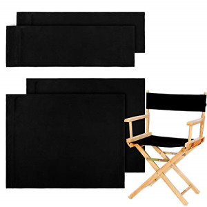 2 Set Casual Directors Chair Cover Kit, Replacement Canvas Seat and Back Canvas
