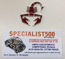 FIAT 500 F.L-R SCORPIONCINO SMALTATO ABARTH ROSSO