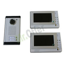 KIT Video door-phone family house that records with camera led e two monitor 7''