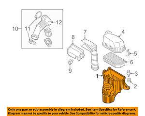 KIA OEM 10-11 Soul Air Cleaner Box-Bottom Lower Housing Body 281122K000