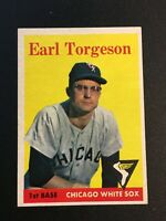 F64510  1958 Topps #138 Earl Torgeson WHITE SOX
