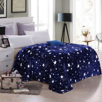 Svetanya Stars Galxy Blanket Flannel Fleece Plaid Sofa Throws Winter Bedsheet BE