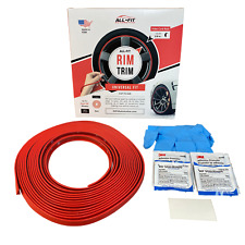 All-Fit Rim Trim [Red] Universal Ring Molding Color Wheel Band Kit for Chevrolet