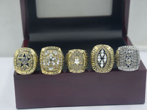 5 Set 1971 1977 1992 1993 1995 Dallas Cowboys World Championship Ring !!!