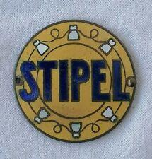 Placca smaltata pubblicitaria telefonica Stipel phone company advertising plate