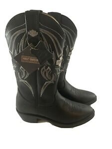 Harley Davidson Cowboy Boots Men's Size 6 Black