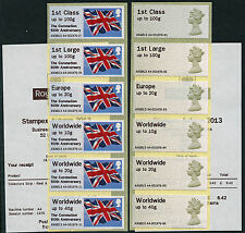 !NEW STAMPEX HYTECH FLAG CORONATION OPT+MACHIN PAIR COLL SETS A2,A3,A4 POST & GO