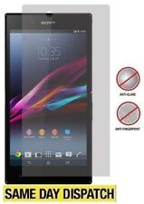3 X Sony Xperia Z Ultra XL39h mate antideslumbrante Protectores De Pantalla Película