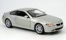 BMW 6ER COUPE SILVER 2004 MAISTO 1:18 1/18 ARGENTE NEW