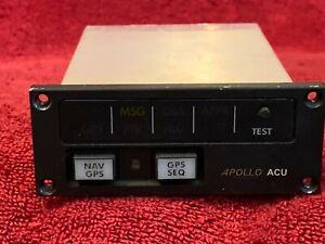 APOLLO ACU+14V HORIZ ANNUNCIATOR CONTROL UNIT P/N 430-6080-000 UPS AVIATION